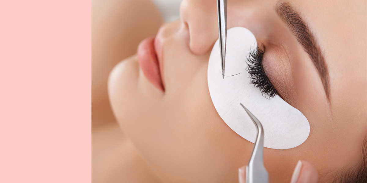 Lashextensions bei uns im Salon von Sweet Paradise Nails & Beauty